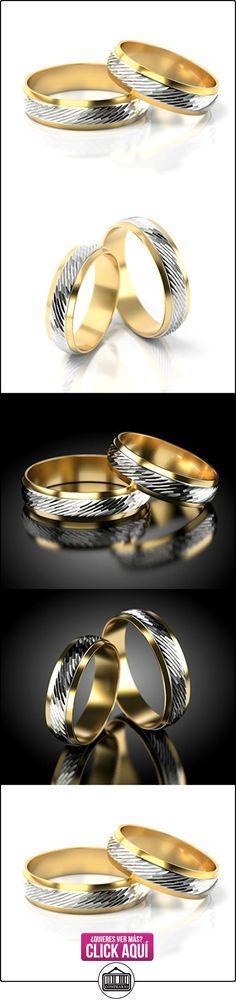 Anillos De Boda Oro Blanco / Oro amarillo 750_PD155_S-937  ✿ Joyas para hombres especiales - lujo ✿ ▬► Ver oferta: http://comprar.io/goto/B01DOQ2BDU