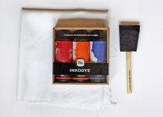 How About Orange--DIY fabric design using Inkodye photo sensitive dye