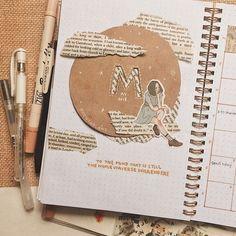 10 ideas para decorar un álbum con scrapbooking 2 Art Journal Pages, Art Journal Challenge, Art Journal Prompts, Art Journal Techniques, Bullet Journal Ideas Pages, Journal Stickers, Art Journals, Bullet Journal School, Bullet Journal Notebook
