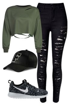 """Untitled #221"" by imogengh ❤ liked on Polyvore featuring NIKE, Puma and WithChic"