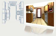 Galley Kitchen Plan