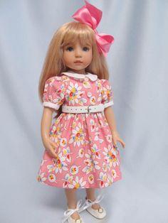 Pink Basic Dress for Effner Little Darling or Bleuette by Bursie's Babies