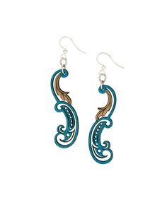 Look at this #zulilyfind! Royal Blue & Natural Paisley Leaf Drop Earrings by Green Tree Jewelry #zulilyfinds