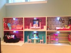 Loren W. made this American Girl Doll house. It's IN.SANE. bravo