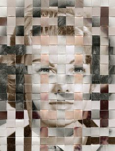 Remnants by Greg Sand. Each 'remnant' in the series is composed of three found photos–each from a different point in the subject's life–that have been cut into strips and woven together to form a portrait of a person who has passed away. Distortion Photography, A Level Photography, Portrait Photography, School Photography, Conceptual Photography, Collage Kunst, Collage Art, Face Collage, Collage Drawing