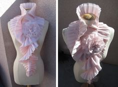 Wow tutorial to make this ruffle pleats neck warmer! A lot of work but...so wow!