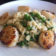 Scallops with asparagus rissotto Yes I made it :))