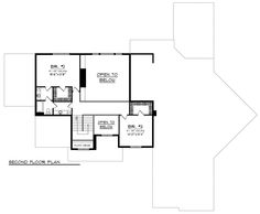 Traditional Style House Plan - 3 Beds 2.5 Baths 3926 Sq/Ft Plan #70-1147 Floor Plan - Upper Floor Plan - Houseplans.com