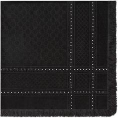 Studded wool silk shawl