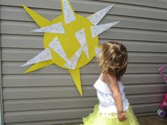pin the sunbeam on the sun party game Sunshine Birthday Parties, Birthday Party Games, First Birthday Parties, 4th Birthday, First Birthdays, Second Birthday Ideas, Baby Girl First Birthday, Sun Crafts, Party Activities
