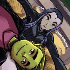 Teen Titans Raven and Beast Boy Teen Titans Raven, Teen Titans Go, Teen Titans Fanart, Nightwing, Batwoman, Beast Boy Raven, Robin Starfire, Character Art, Character Design