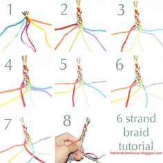 6 strand braid tutorial can be used for headbands, bracelets and more.