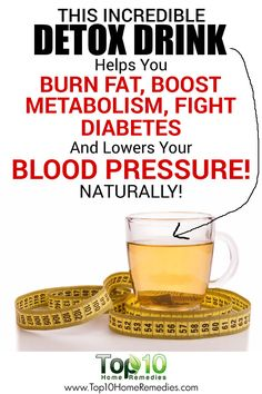 This Incredible Detox Drink Helps You Burn Fat, Boost Metabolism, Fight Diabetes And Lowers Your Blood Pressure!