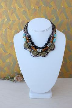 statement-ethnic-necklace-color-charlotte-hosten-web Jewlery, Jewelry Necklaces, Projects To Try, Charlotte, Ethnic, Fashion, Necklaces, Jewels, Jewelry