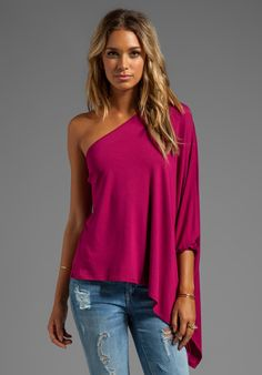 JAMES & JOY Poncho Top in Cranberry at Revolve Clothing - Free Shipping!