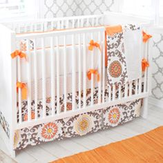 New Arrivals Crib Bedding Ragamuffin Tangerine from @Laylagrayce #laylagrayce #baby
