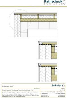 Rathscheck Schiefer - Schnitt durch Anschluss einer Schieferfassade an ein WDVS.