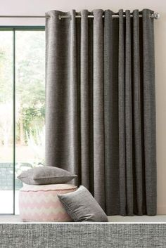 Buy Textured Chenille Eyelet Curtains from the Next UK online shop