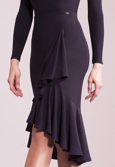 Chrisanne Clover Shadow Latin Skirt | Dancesport Fashion @ DanceShopper.com