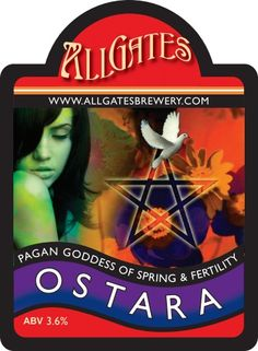 Allgates Ostara. Another fave beer and I like the pumclip.