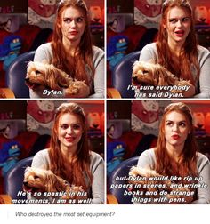 teen wolf cast - holland roden about dylan o´brien