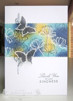 Handmade thank you card ... Blog: EnchantINK ... Stampin' Up! - Bliss, Fast & Fabulous