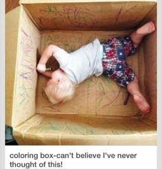 You've all heard of a coloring Book, but how about a coloring Box!