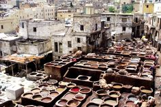 #Tanneries in Fez, Morocco Unforgettable view!
