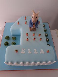 Number One Cake, Peter Rabbit Cake, Cake Decorating, Birthday Cake, Baby Shower, Cakes, Desserts, Daily Inspiration, Food