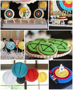 Archery Themed Birthday Party with Lots of CUTE IDEAS via Kara's Party Ideas Kara'sPartyIdeas.com Cute for a HUNGER GAMES or ROBIN HOOD Party! #Tween #BowAndArrow #PartyIdeas #Supplies #hungergames #archery #birthday