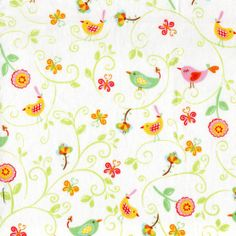 """Novelty prints """"Bird and Scroll Leaves"""", 1294-6570 8yd 1755-01"""