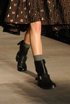 Women's Trend: Biker Gang  (Marc by Marc Jacobs' double-strap short boot with quilted stitching)