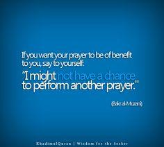 last prayer