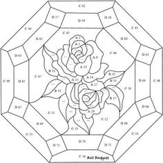 Pattern for roses Stained Glass Patterns Free, Stained Glass Quilt, Stained Glass Flowers, Faux Stained Glass, Stained Glass Designs, Stained Glass Panels, Stained Glass Projects, Leaded Glass, Mosaic Patterns