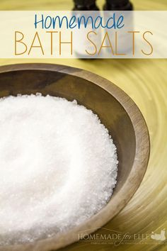 Homemade Bath Salts with Essential Oils | homemadeforelle.com