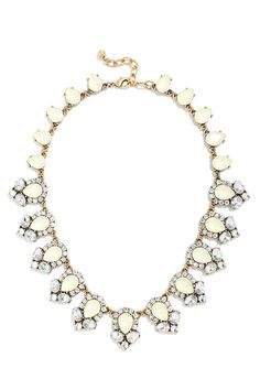 Get Glam Cream Rhinestone Statement Necklace at Lulus.com