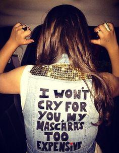 mascara, fashion, makeup, adriana lima, jean jackets, thought, motto, quot, true stories