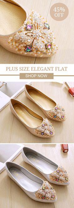 US$33.05 Plus Size Elegant Dance Soft Trendy Flat Loafers For Women