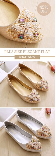 Plus Size Elegant Dance Soft Trendy Flat Loafers For Women 312b77a71