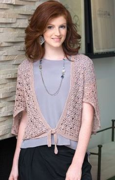 Flutter Cardigan Free Pattern from Aunt Lydia's Crochet Thread