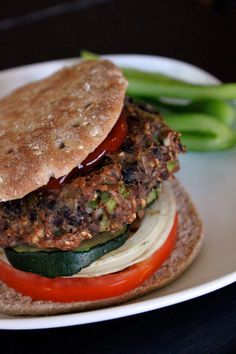 Makes 5. 135 calories per burger. 0 saturated fat, 1 g sugar, 16g protein, 5 g fiber ...