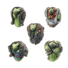 Set contains 5 different resin Orc Gangsta Riderz Torsos, ideal for use with 28mm scale models. Supplied unpainted. This kit may requires assembly