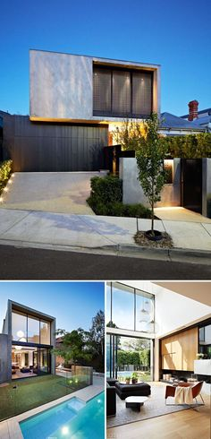 Garage door seamless charred wood Celebrate Australia Day With These 14 Contemporary Australian Houses Australian Architecture, Residential Architecture, Contemporary Architecture, Contemporary Houses, House Architecture, Futuristic Architecture, Facade Design, Exterior Design, Australia House
