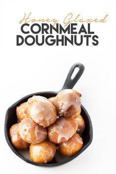 Honey Glazed Cornmeal Doughnuts | Light and fluffy cornmeal doughnuts dipped in a honey glaze @sweetasacookie