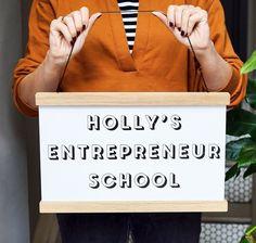 Sign advertising Holly Tucker MBE's entrepreneur school for kids. School Signs, Advertising Signs, Entrepreneur, Kids, Young Children, Boys, Sandwich Boards, Children, Boy Babies