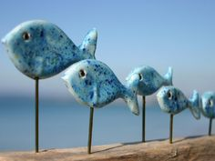I love these Jane James fish sculptures and might have to include a couple - Blueshoal.jpg (640×480)