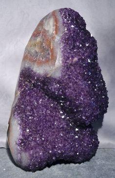 Amethyst Partial Polished Large Geode Crystal-Uruguay