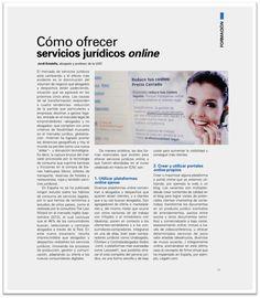 Cómo ofrecer servicios jurídicos online, artículo  en el Legajo Word Search, Blog, Professor, Studio, Blogging