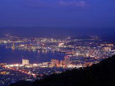 比叡山ドライブウェイから大津を眺めた夜景ですね。    Shiga #shiga #japan Shiga, Rising Sun, Nihon, Seattle Skyline, San Francisco Skyline, Tokyo, Sunrise, Community, Japan