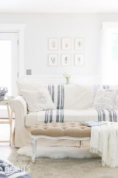 Simple and fuss free Summer living - Toss a lovely blanket over furniture for easy clean-up.